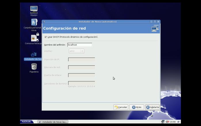 configurando la red
