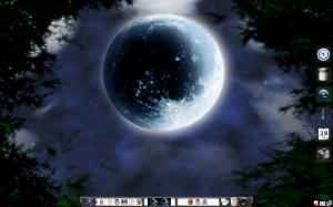 Una captura de pantalla de mi sistema con el tema Moonlight