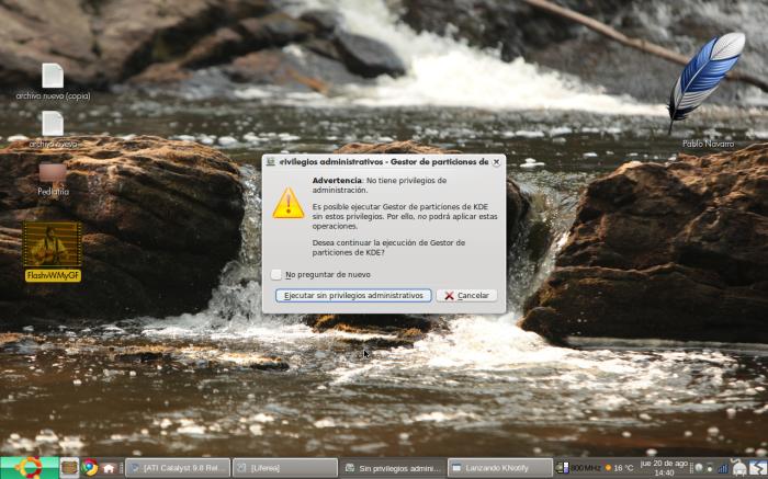 Inicio KDE Partition Manager