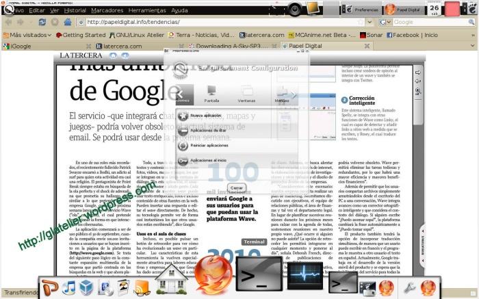 Firefox con tema Karmic X