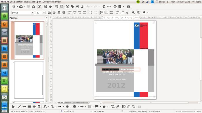 edición de pdf en libreoffice