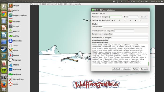 editando metadatos