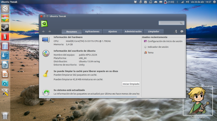 ubuntu tweak en 13-04