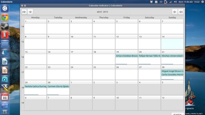 calendarios en acción