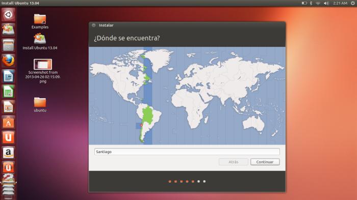 zona horaria ubuntu