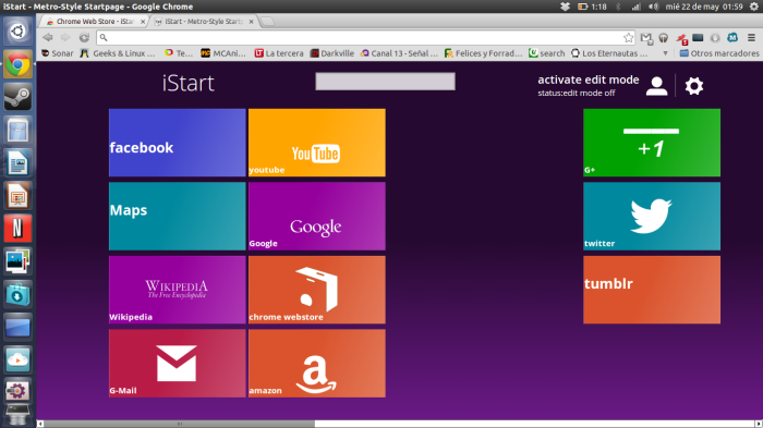 istart en chrome