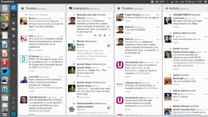 tweetdeck en acción