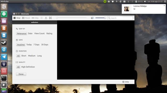 minitube en ubuntu
