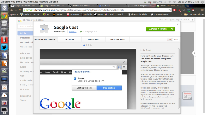 extensión en Chrome