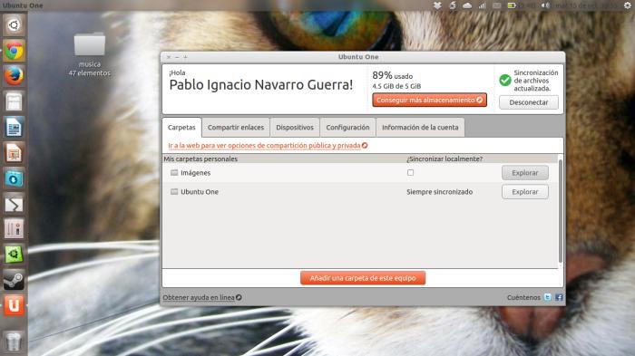 Ubuntu one en acción