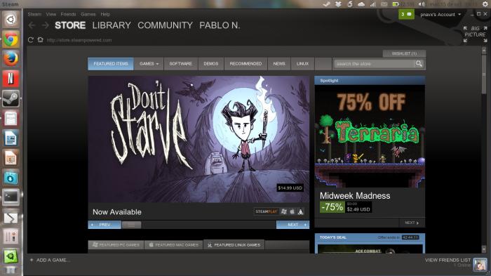 Steam en 13.10