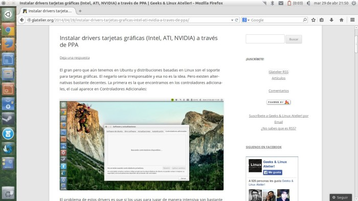 Firefox en acción