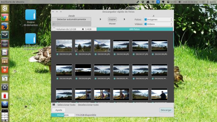 Rapid Photo Downloader en Ubuntu