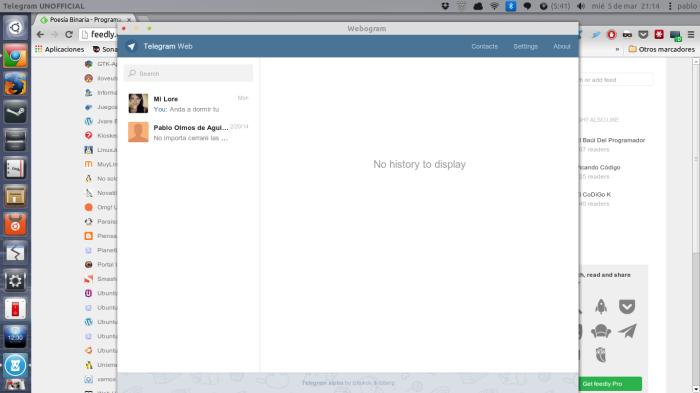 Webogram en acción