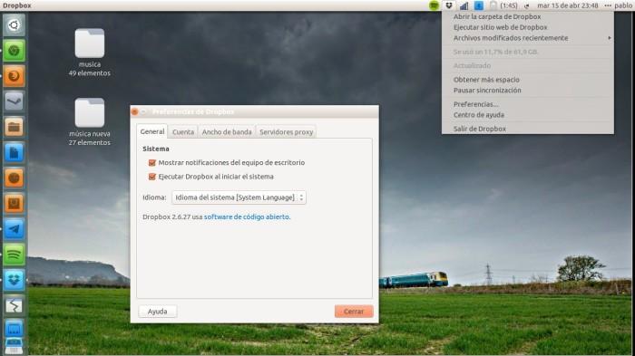 dropbox en accion ubuntu