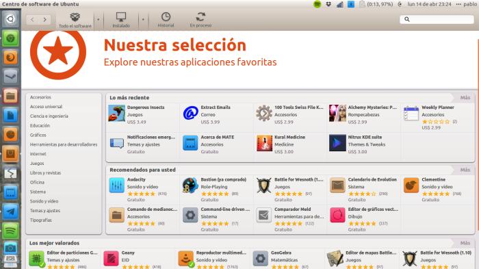 Centro de Software de Ubuntu 14.04