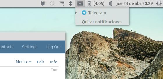 indicador de telegram