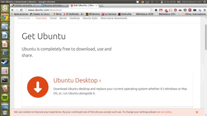 descargando ubuntu