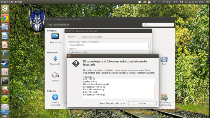 Añadiendo idiomas a Ubuntu