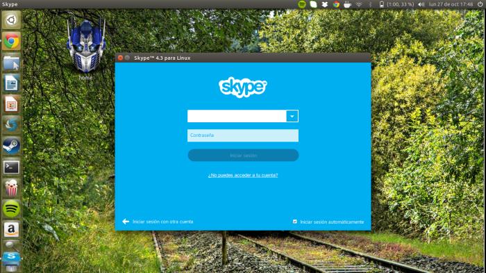 Skype en 14.10