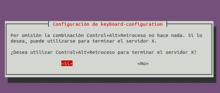reiniciar servidor X