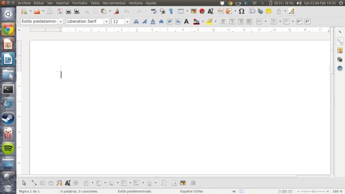LibreOffice en acción