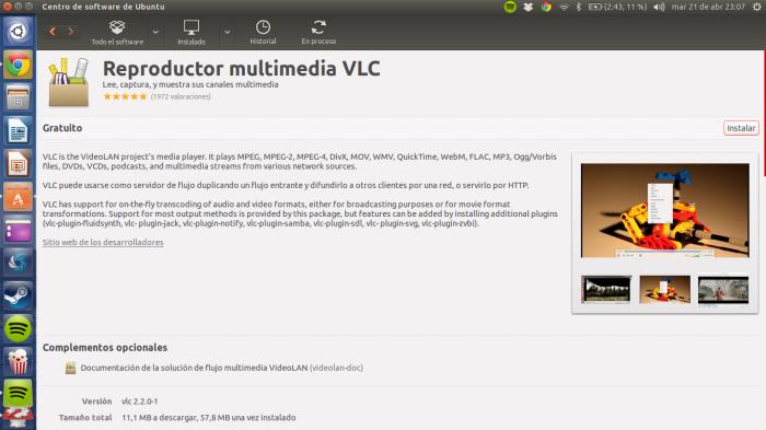 instalando vlc ubuntu