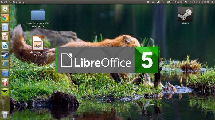 LibreOffice 5 inicio